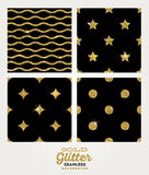 Set of gold seamless background Stock Photography