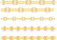 Gold seamless border Stock Image