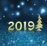 Set of gold shiny digits on glitter background. New year 2018 background. Christmas. stock image