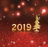 Set of gold shiny digits on glitter background. New year 2018 background. Christmas. royalty free stock images