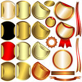 Set gold, silver and bronze awards (vector) Stock Image