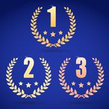 Set of gold, silver and bronze symbols Stock Photography