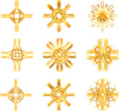 Gold star symbol Royalty Free Stock Images