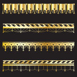 Set of gold vintage borders Royalty Free Stock Images