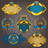 Set of gold vip Royalty Free Stock Images