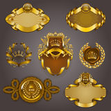 Set of gold vip Stock Photography