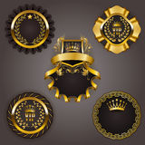 Set of gold vip Royalty Free Stock Photo
