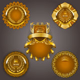 Set of gold vip Stock Images