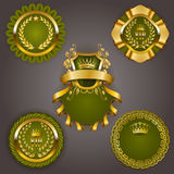 Set of gold vip Royalty Free Stock Photos