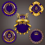 Set of gold vip Royalty Free Stock Image