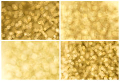 Set of golden abstract background Stock Photography