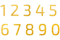 Set of golden background design number 1 to 0 Stock Photo