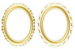 Set - vector golden beautiful frames Stock Photo