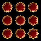 Set of Golden Blank Seal Wax Stamp. Vector Royalty Free Stock Photography