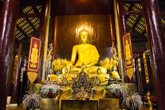 Set of golden Buddha image. Set of Buddha image of some temple in Chiang Mia, Thailand Stock Photography