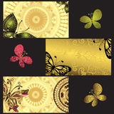 Set of golden business cards Royalty Free Stock Photo
