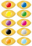 Set golden buttons Stock Image
