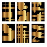 Set of golden covers for brochures Stock Photo