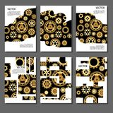 Set of golden covers for brochures Stock Photography