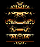 Set of golden design elements Stock Images