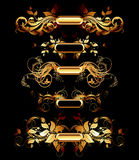 Set of golden design elements Stock Photo