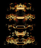 Set of golden design elements Royalty Free Stock Photo