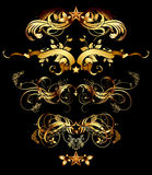 Set of golden design elements Royalty Free Stock Images
