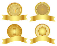 Set of golden design elements. Royalty Free Stock Photo