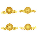 Set of golden design elements. Stock Images