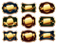 Set of golden frame Stock Photo