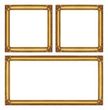 Set golden  frame isolated on white background, with clipping pa Royalty Free Stock Photo