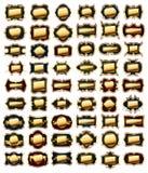 Set of golden frames stock illustration