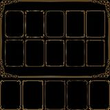 Frames. Set of golden frames with decorative corners Stock Photo