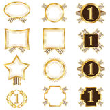 Set of Golden Frames. This image is a  illustration Stock Images