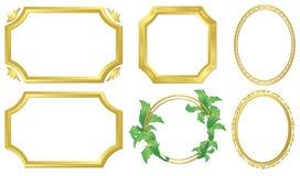 Set of  golden frames - vector Stock Photo