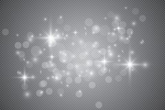Set of golden glowing lights effects isolated on transparent background. Glow light effect. Star burst with sparkles. Glowing lights effect, flare, explosion vector illustration