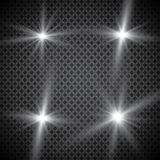 Set of golden glowing lights effects isolated on transparent background. Sun flash with rays and spotlight. Glow light effect. Sta. R burst with sparkles Royalty Free Stock Images
