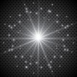 Set of golden glowing lights effects isolated on transparent background. Sun flash with rays and spotlight. Glow light effect. Sta. R burst with sparkles Stock Photo