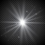 Set of golden glowing lights effects isolated on transparent background. Sun flash with rays and spotlight. Glow light effect. Sta. R burst with sparkles Stock Photography