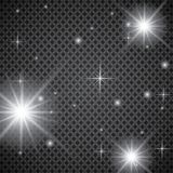 Set of golden glowing lights effects isolated on transparent background. Sun flash with rays and spotlight. Glow light effect. Sta. R burst with sparkles Stock Image