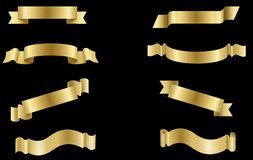 Free Set Golden Label  Banner Ribbon  Collection Royalty Free Stock Photo - 148773875