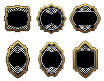 Set of golden labels Royalty Free Stock Image