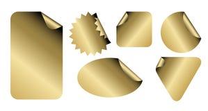 Set of golden labels vector illustration
