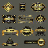 Set of golden labels Stock Photos