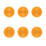 Set golden labels and stickers Stock Images