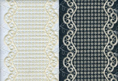 Set of golden lacy textures Stock Photo