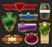Set of golden luxury framed label. Vector collection of golden luxury framed label Royalty Free Stock Photo