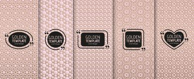 Set of golden luxury templates. Abstract geometric background Stock Photos