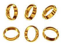 Set of golden ring Stock Photos