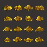 Chinese clouds icon vector set royalty free illustration